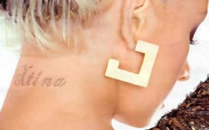 Photo of Christina Aguilera Tattoo